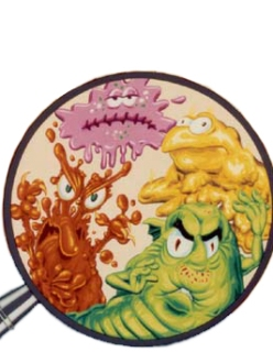 Germs Cartoon Diet
